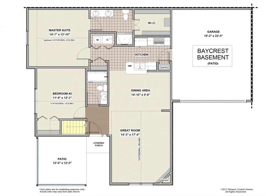 Baycrest Basement First Floor Plan - Patio