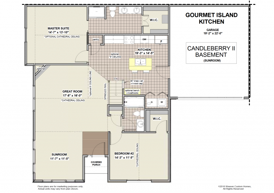 Candleberry II Floorplan with Sunroom