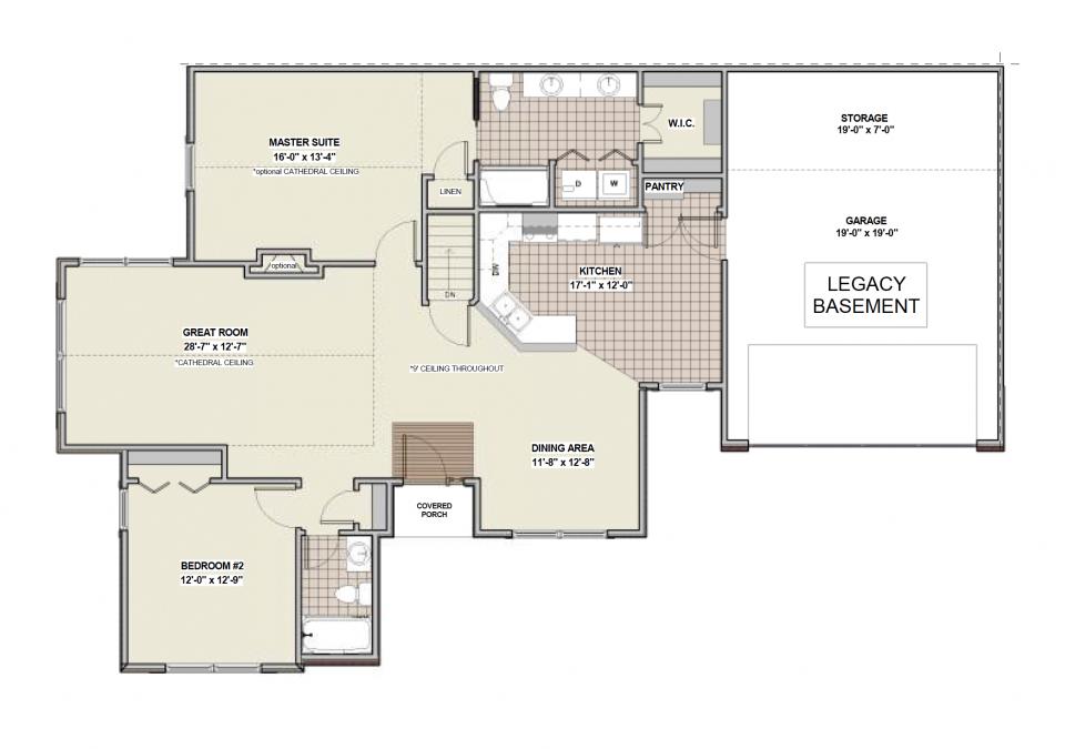 Legacy Basement First Floor Plan