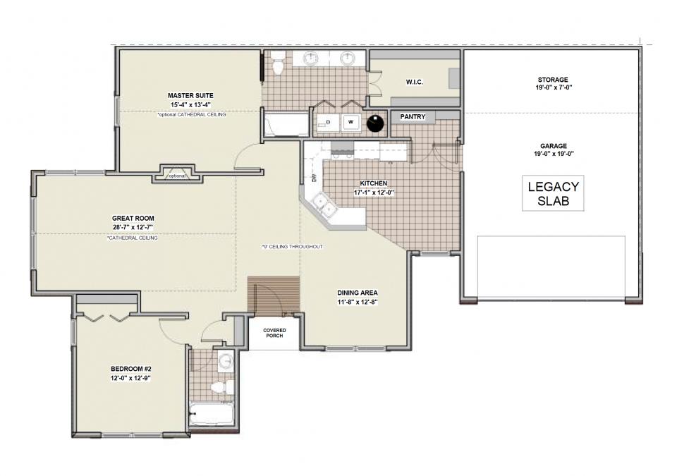 Legacy Slab First Floor Plan