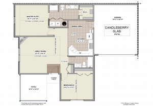 Candleberry Slab - First Floor Plan - Patio