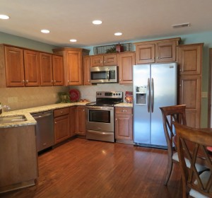 Decorated condominium kitchen